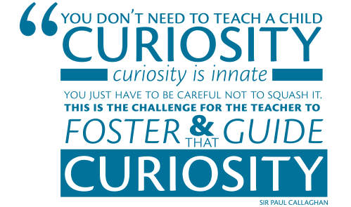 You don't need to teach a child curiosity...